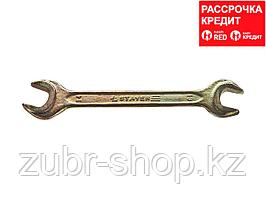 Рожковый гаечный ключ 13 x 14 мм, STAYER (27038-13-14)