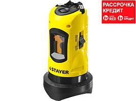 STAYER SLL-1 нивелир лазерный, 10м, точн. +/-0,5 мм/м (34960)