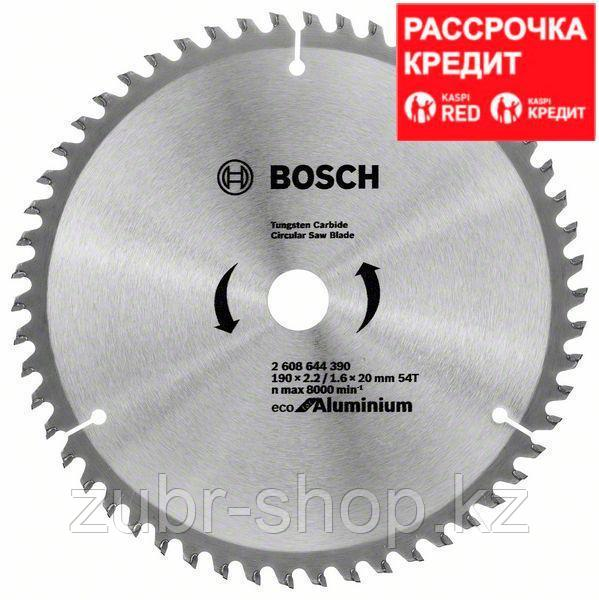 Пильный диск Bosch Eco for Aluminium 190х20/16, Z54