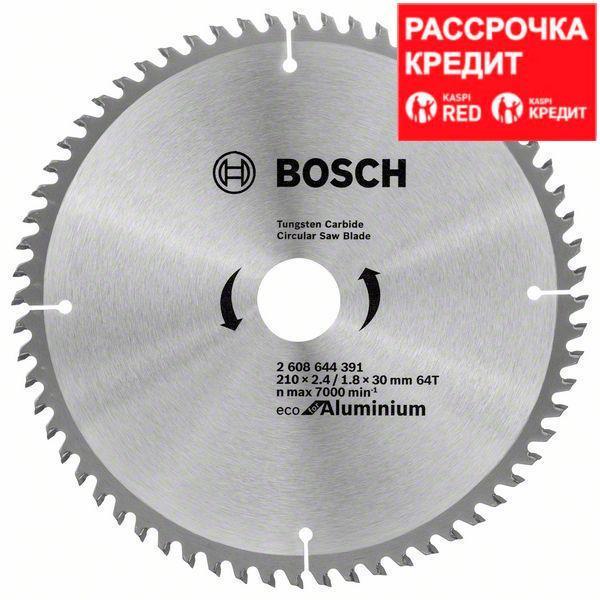 Пильный диск Bosch Eco for Aluminium 210х30, Z64