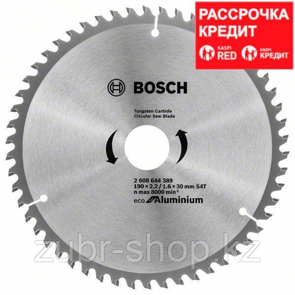 Пильный диск Bosch Eco for Aluminium 190х30, Z54