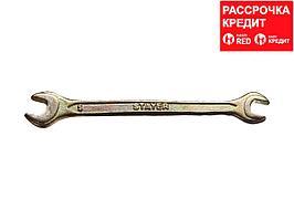 Рожковый гаечный ключ 6 x 7 мм, STAYER (27038-06-07)