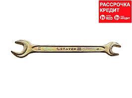 Рожковый гаечный ключ 9 x 11 мм, STAYER (27038-09-11)