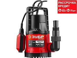 ЗУБР НПЧ-М1-400 дренажный насос с минимальным уровнем откачки, 400 Вт (НПЧ-М1-400)