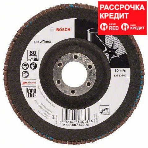 Лепестковый шлифовальный круг угловой Bosch Best for Inox K 60, 125 мм