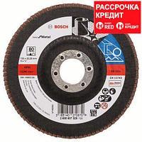 Лепестковый шлифовальный круг прямой Bosch Best for Metal K 80, 125 мм, фото 1