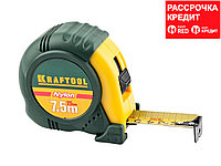 KRAFTOOL NYLON 7,5м / 25мм рулетка с ударостойким обрезиненным корпусом (34122-08_z01)