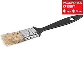 Кисть плоская СИБИН, пластиковая ручка, светлая смешанная щетина, 25мм (01008-025)