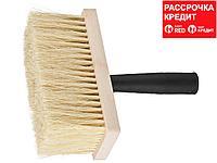 """Макловица STAYER """"PROFI"""" БИТУМНАЯ, спец щетина из натур растительного волокна, прямоугольная, деревян корпус, 70x170мм (01853-17)"""