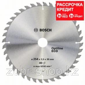 Пильный диск Bosch Optiline Wood ECO 254х30, Z40