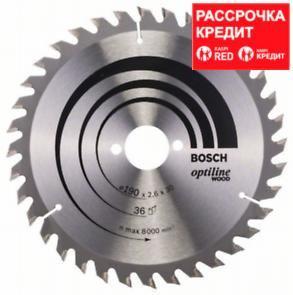 Пильный диск Bosch Optiline Wood 190 x 30, Z36