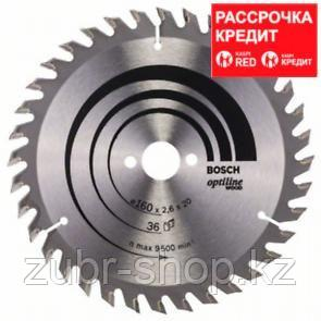 Пильный диск Bosch Optiline Wood 160 x 20/16, Z36