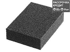 """Губка шлифовальная STAYER """"MASTER"""" четырехсторонняя, зерно - оксид алюминия, Р320, 100 x 68 x 26 мм. (3560-4)"""