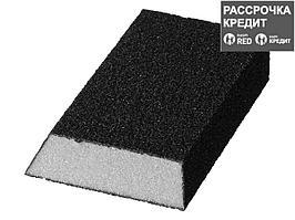 """Губка шлифовальная STAYER """"MASTER"""" угловая, зерно - оксид алюминия, Р80, 100 x 68 x 42 x 26 мм, средняя"""