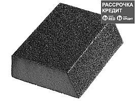 """Губка шлифовальная STAYER """"MASTER"""" угловая, зерно - оксид алюминия, Р120, 100 x 68 x 42 x 26 мм, средняя"""