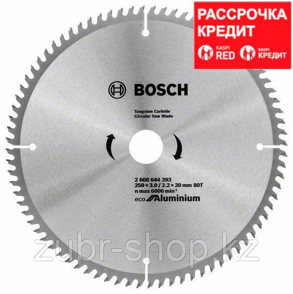 Пильный диск Bosch Eco for Aluminium 250х30, Z80