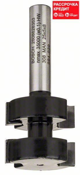 Гребневая фреза Bosch Standard for Wood 8x25x58 мм