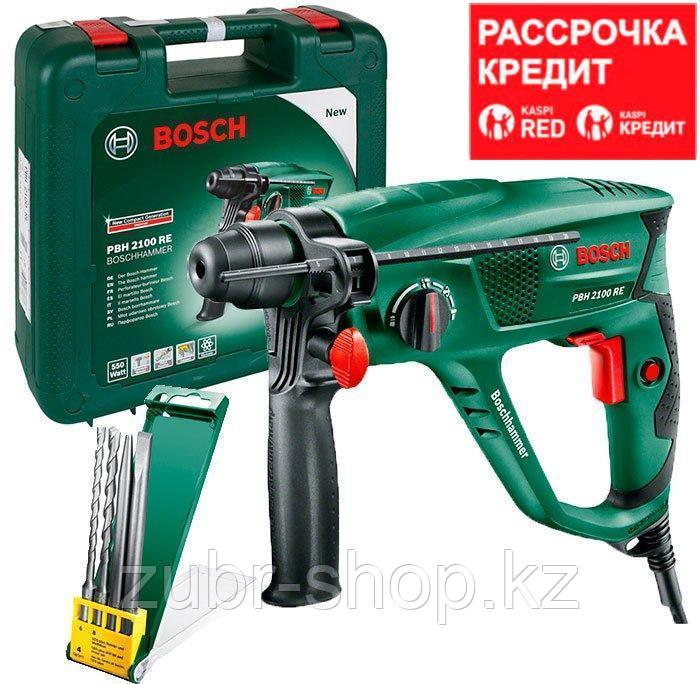 Перфоратор Bosch PBH 2100 RE + 2 зубила + 2 бура + чемодан (06033A9302)