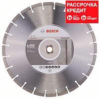Алмазный отрезной круг по бетону Bosch Standard for Concrete 350x20/25.4x2.8x10 мм, фото 1