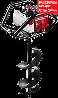 Мотобур (бензобур) со шнеком, d=60-300 мм, 71 см3, 2 оператора, ЗУБР (МБ2-300 Н)