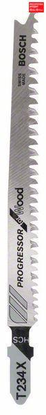 Пилочка для лобзика Bosch Progressor for Wood T 234 X, 5 шт