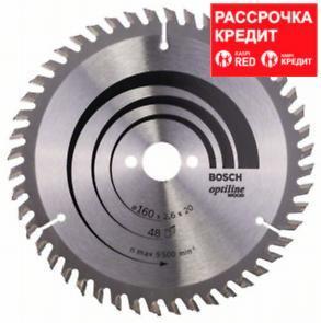 Пильный диск Bosch Optiline Wood 160 x 20/16, Z48