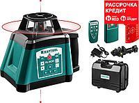 """Ротационный лазерный нивелир """"RL600"""", сверхъяркий, KRAFTOOL 34600, 600м, IP54, точн. 0,2 мм/м, 4ХC (34600)"""