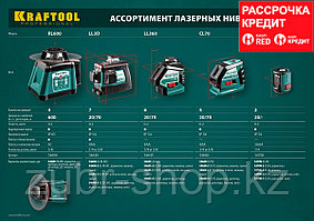 KRAFTOOL LL360 #2 нивелир лазерный, 2х360° , 20м/70м, IP54, точн. +/-0,2 мм/м, держатель, в коробке (34645-2)