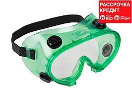 ЗУБР МАСТЕР 5 ударопрочные очки защитные с непрямой вентиляцией, закрытого типа. (11026)