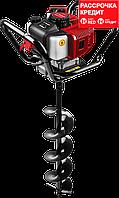 Мотобур (бензобур) со шнеком, d=60-200 мм, 52 см3, 1 оператор, ЗУБР (МБ1-200 Н)