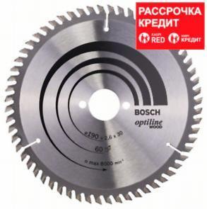 Пильный диск Bosch Optiline Wood 190 x 30, Z60