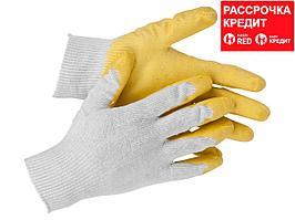 STAYER PROTECT, размер S-M, перчатки с одинарным латексным обливом (11408-S)