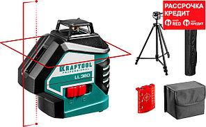 KRAFTOOL LL360 #3 нивелир лазерный, 2х360° , 20м/70м, IP54, точн. +/-0,2 мм/м, штатив, в коробке (34645-3)