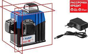 ЗУБР КРЕСТ 3D нивелир лазерный 3х360°, 20м/70м, точн. +/-0,3 мм/м (34908)