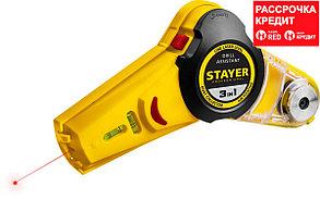 STAYER Drill Assistant уровень с приспособлением для сверления, 7м, точн. +/-1,5 мм/м (34987)