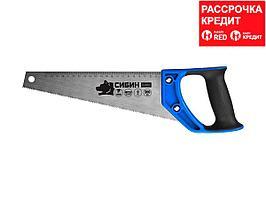 Ножовка по дереву компактная (пила) ТУЛБОКС 300 мм, шаг 9 TPI (3 мм), СИБИН (15056-30)
