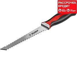 ЗУБР Мастер 150 мм выкружная мини-ножовка для гипсокартона с двухсторонним лезвием (15178_z01)