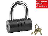 """Замок ЗУБР """"МАСТЕР"""" навесной, повышенной защищенности, дисковый механизм секрета, ключ 7 """"пинов"""", 82 x 46 мм (3720-21_z01)"""