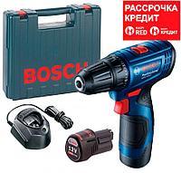 Аккумуляторная дрель-шуруповерт Bosch GSR 120-LI, 2 акб 2 Ah