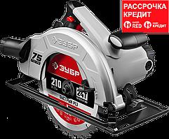Пила дисковая, 90°-70 мм, диск 210 мм, 2000 Вт, ЗУБР (ПД-75)