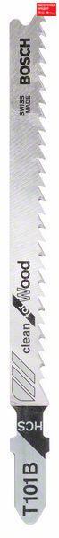 Пилочка для лобзика Bosch Clean for Wood T 101 B, 25 шт