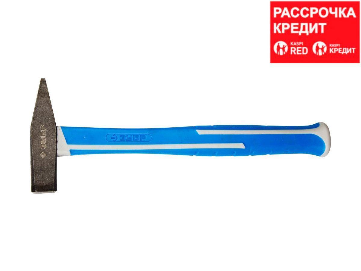 Молоток слесарный ЗУБР 20035-03, ЭКСПЕРТ, кованый, фиберглассовая, полностью обрезиненная рукоятка, 300 г