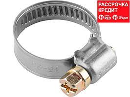 Хомуты, нерж. сталь, накатная лента 9 мм, 8-14 мм, 200 шт, ЗУБР Профессионал (37820-08-14-200)