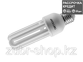 Энергосберегающая лампа СВЕТОЗАРU-КЛАССИКАстержень,цоколь E27(стандарт),Т3,3U,яркий бел свет(4000К),8000час,20Вт(100), 44334-20