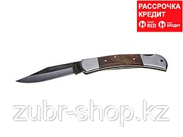 Нож STAYER складной с деревянными вставками, большой (47620-2_z01)