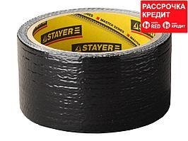 Армированная лента, STAYER Professional 12086-50-25, универсальная, влагостойкая, 48мм х 25м, черная (12086-50-25)