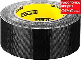 Армированная лента, STAYER Professional 12086-50-50, универсальная, влагостойкая, 48мм х 45м, черная (12086-50-50)