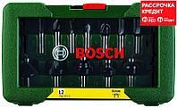 Набор твердосплавных фрез Bosch Promoline с хвостовиком Ø 8 мм, 12 шт