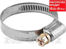 Хомуты, нерж. сталь, накатная лента 9 мм, 8-14 мм, 5 шт, ЗУБР Профессионал (3787-08-14)