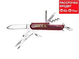 Нож DEXX складной многофункциональный, пластиковая рукоятка, 10 функций (47645)